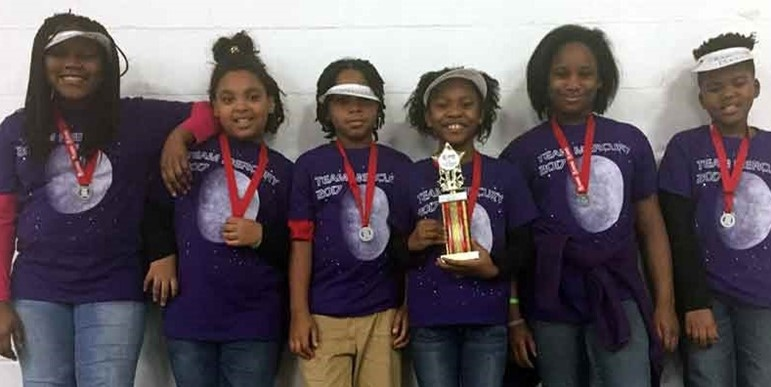 Team M.E.R.C.U.R.Y. at the regional First Lego League tournament