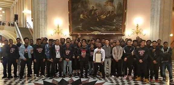 TMHS 2017-2018 Football team honored at the Ohio Senate Chambers