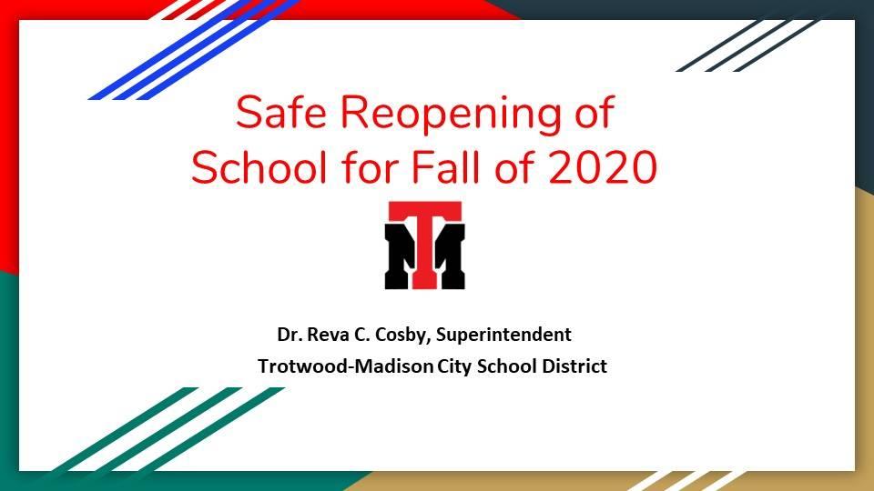 Safe Reopening Plan Fall 2020