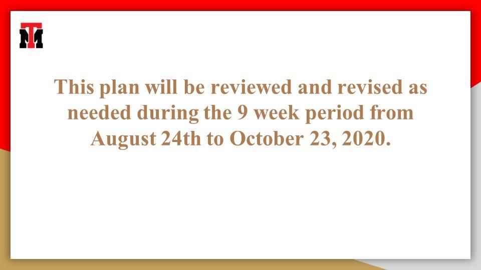 Safe Reopening Plan Pg. 16