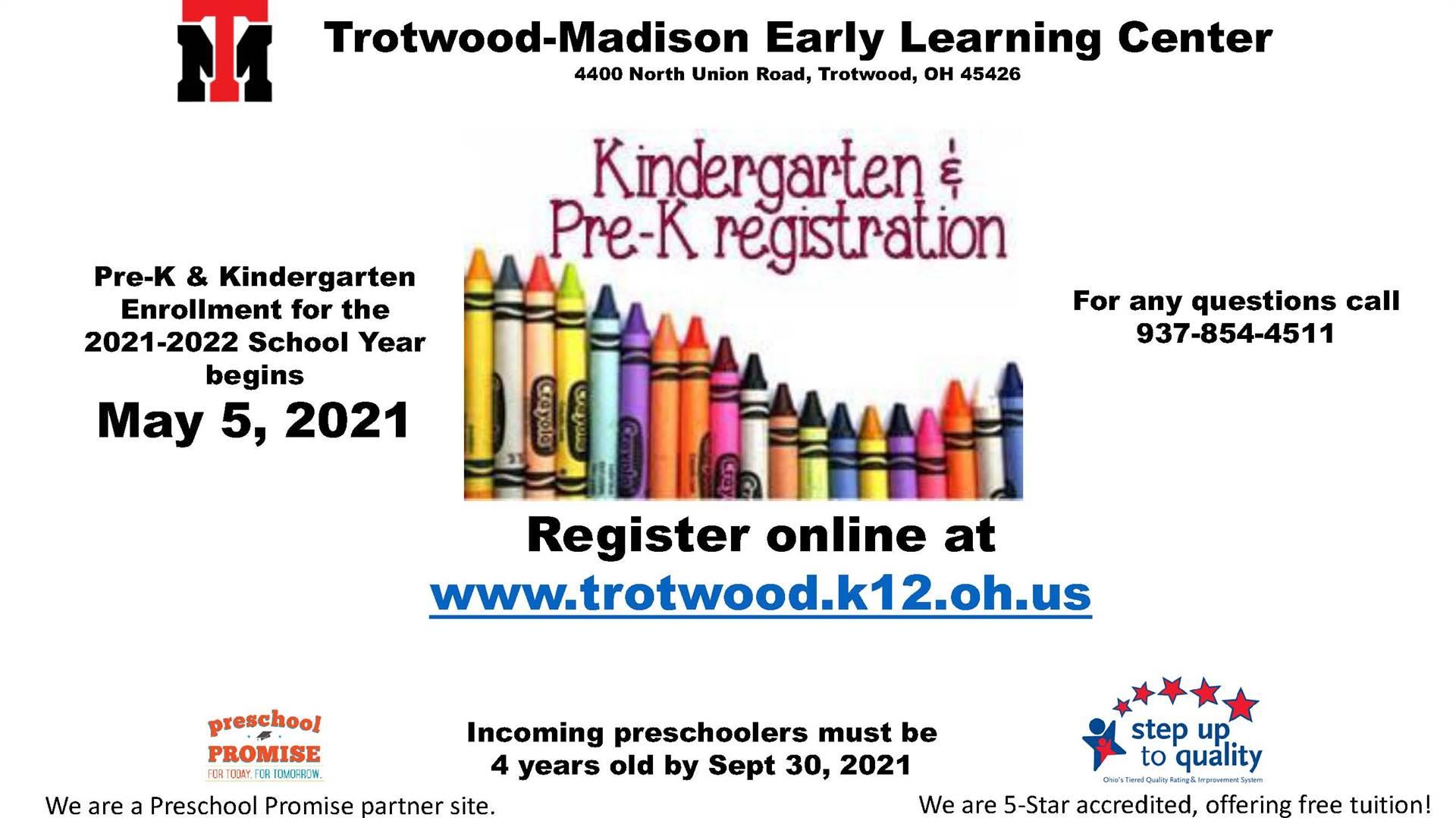 Kindergarten & Pre-K Registration Flyer
